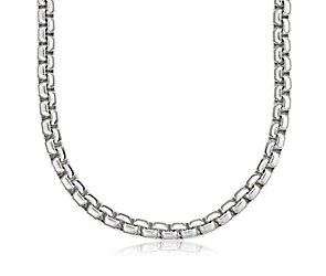 Rounded Venetian Link Necklace in Sterling Silver