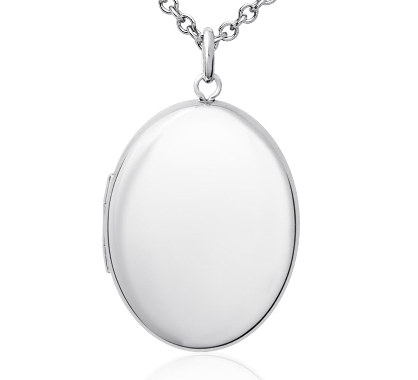 Oval Locket Pendant in Sterling Silver