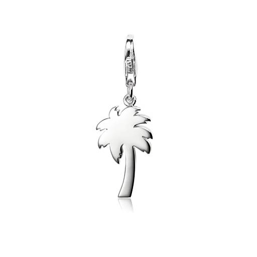 Tropical Palm Tree Charm in Sterling Silver