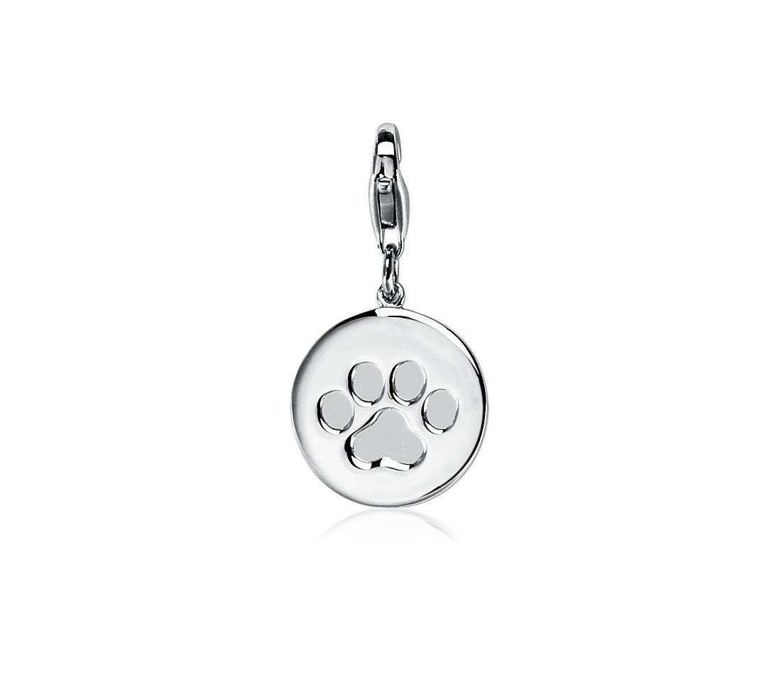 Paw Print Charm in Sterling Silver
