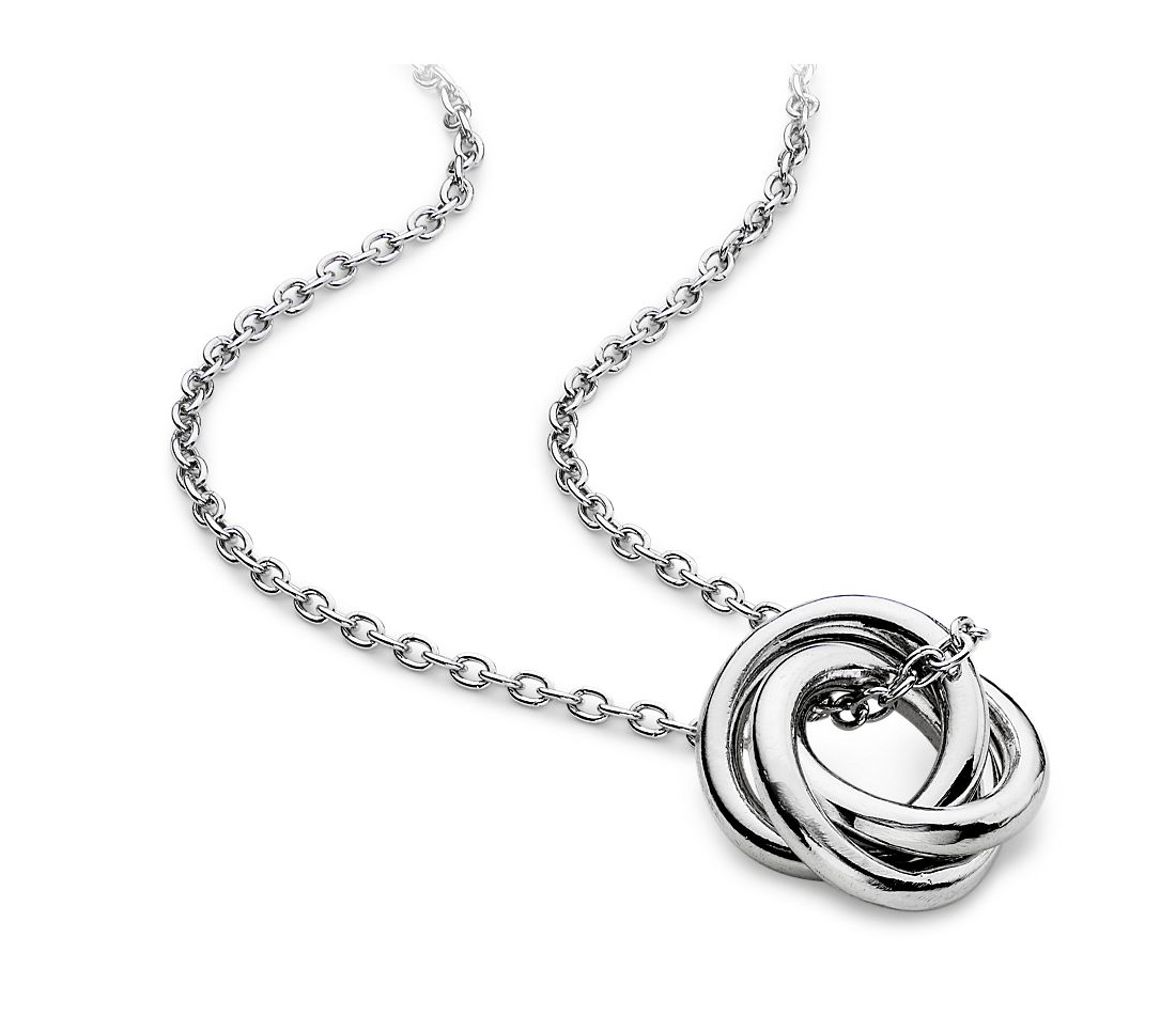 Infinity Rings Pendant in Sterling Silver