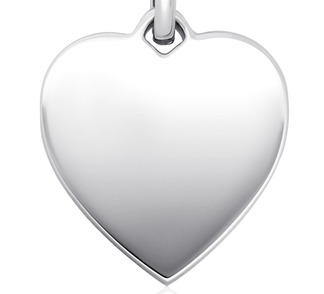 Heart-Tag Pendant in Sterling Silver