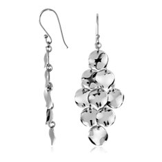 Petals Chandelier Earrings in Sterling Silver