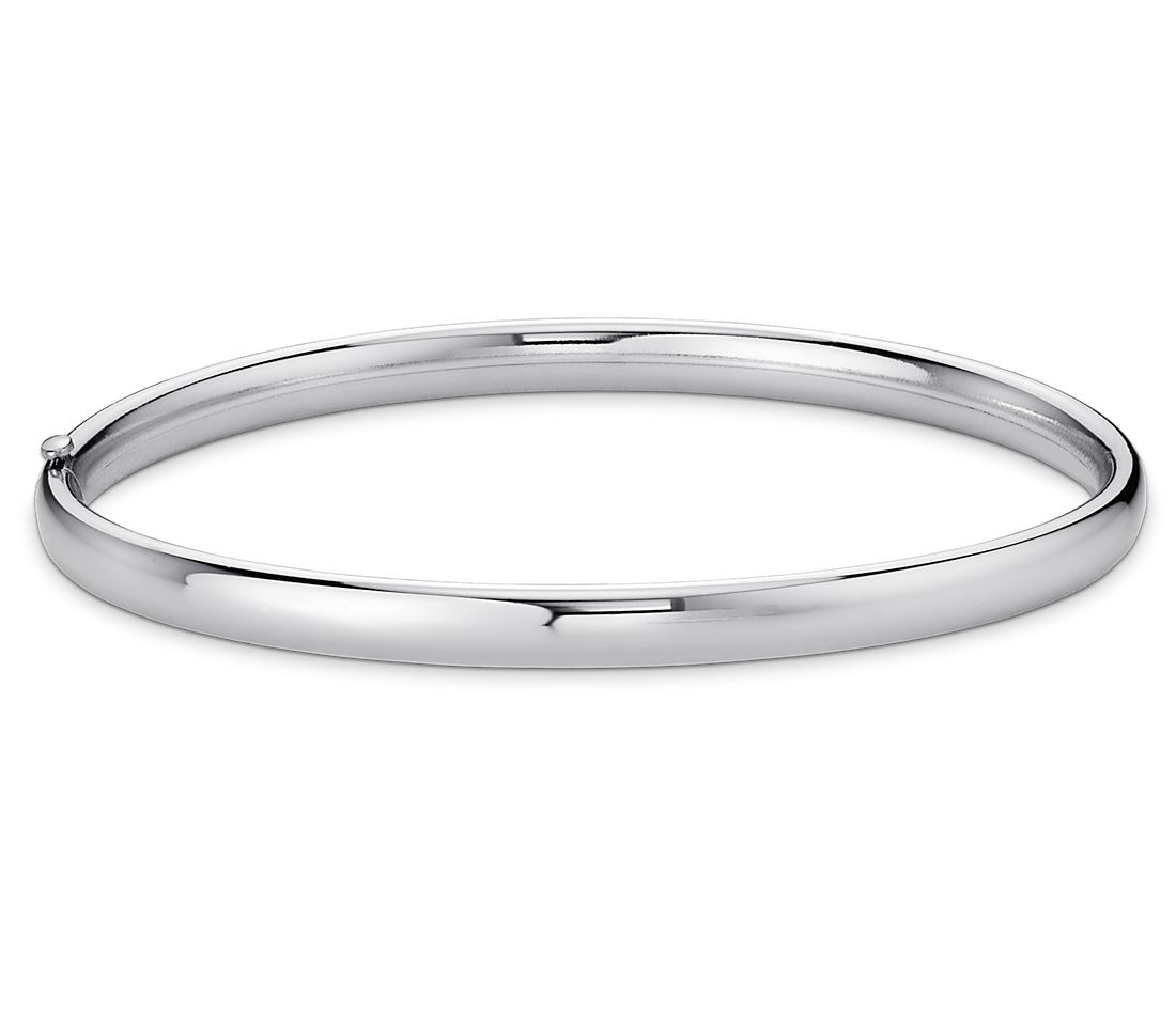 Polished bangle bracelet in sterling silver blue nile