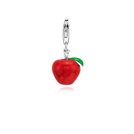 Red Apple Charm in Sterling Silver