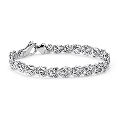 Rosetta Linked Bracelet in Sterling Silver