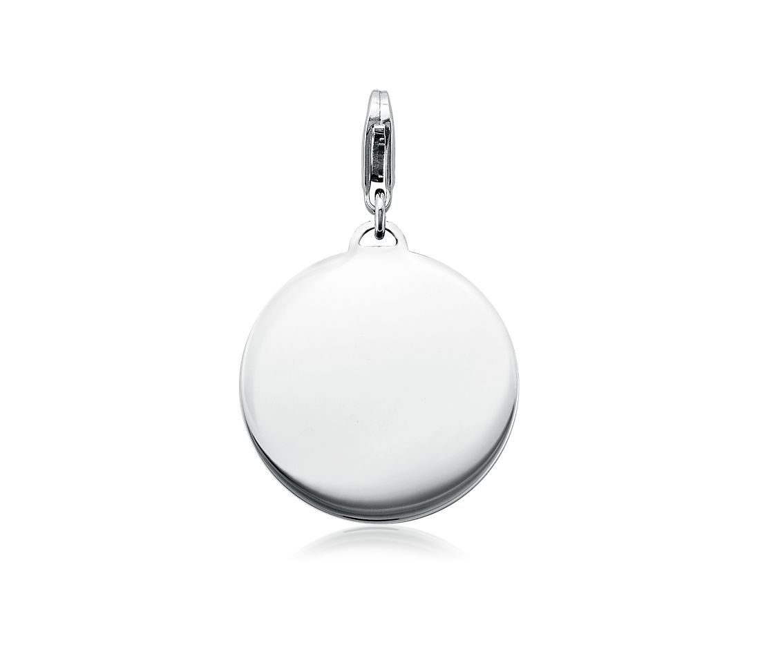 Engraveable Round-Tag Charm in Sterling Silver