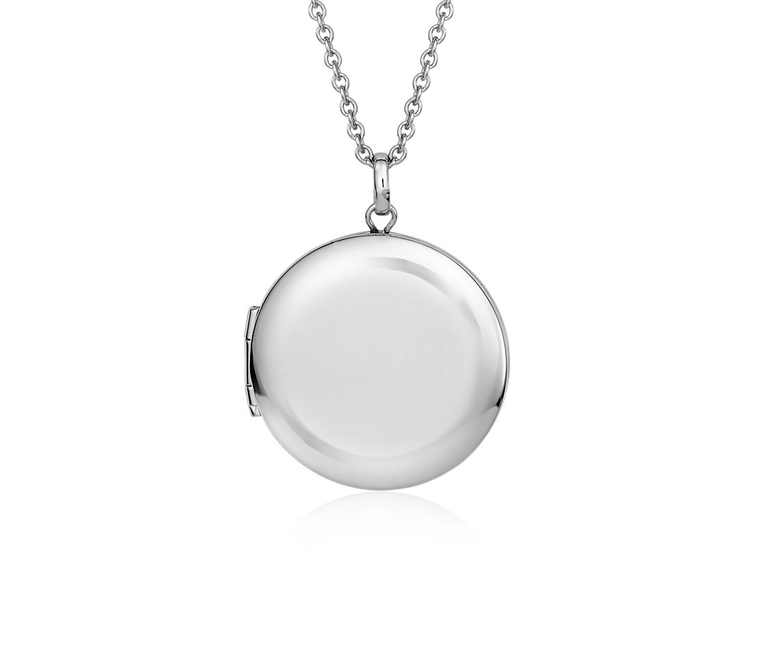 Round Locket Pendant in Sterling Silver