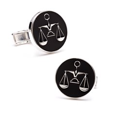 Scales of Justice Cuff Links in Sterling Silver