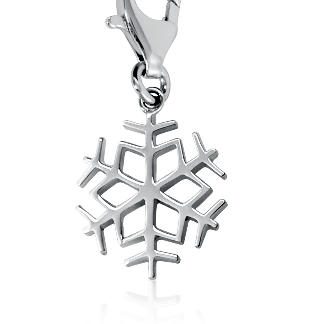 Snowflake Charm in Sterling Silver