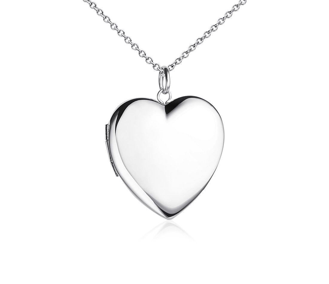 Engraveable Sweetheart Locket in Sterling Silver