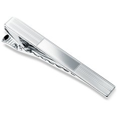 Pin Striped Tie Clip in Sterling Silver