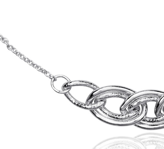 Collier fil  en argent sterling