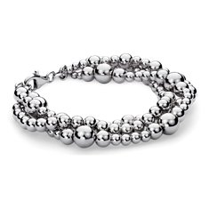 Toursade Bead Bracelet in Sterling Silver