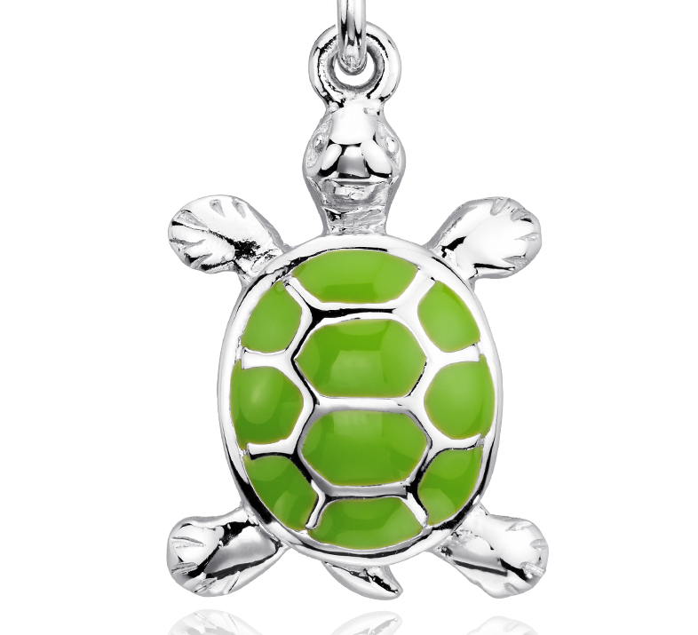 Breloque tortue en argent sterling
