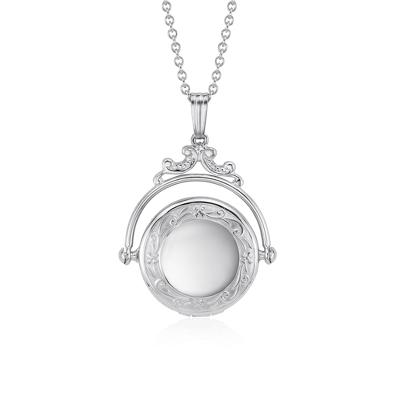 Victorian Spinning Locket in Sterling Silver