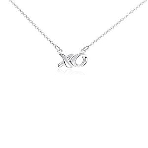 Mini XO Necklace in Sterling Silver
