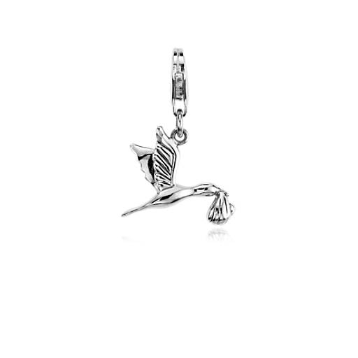 Stork Charm in Sterling Silver