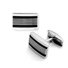 Avenue Cuff Links in Stainless Steel