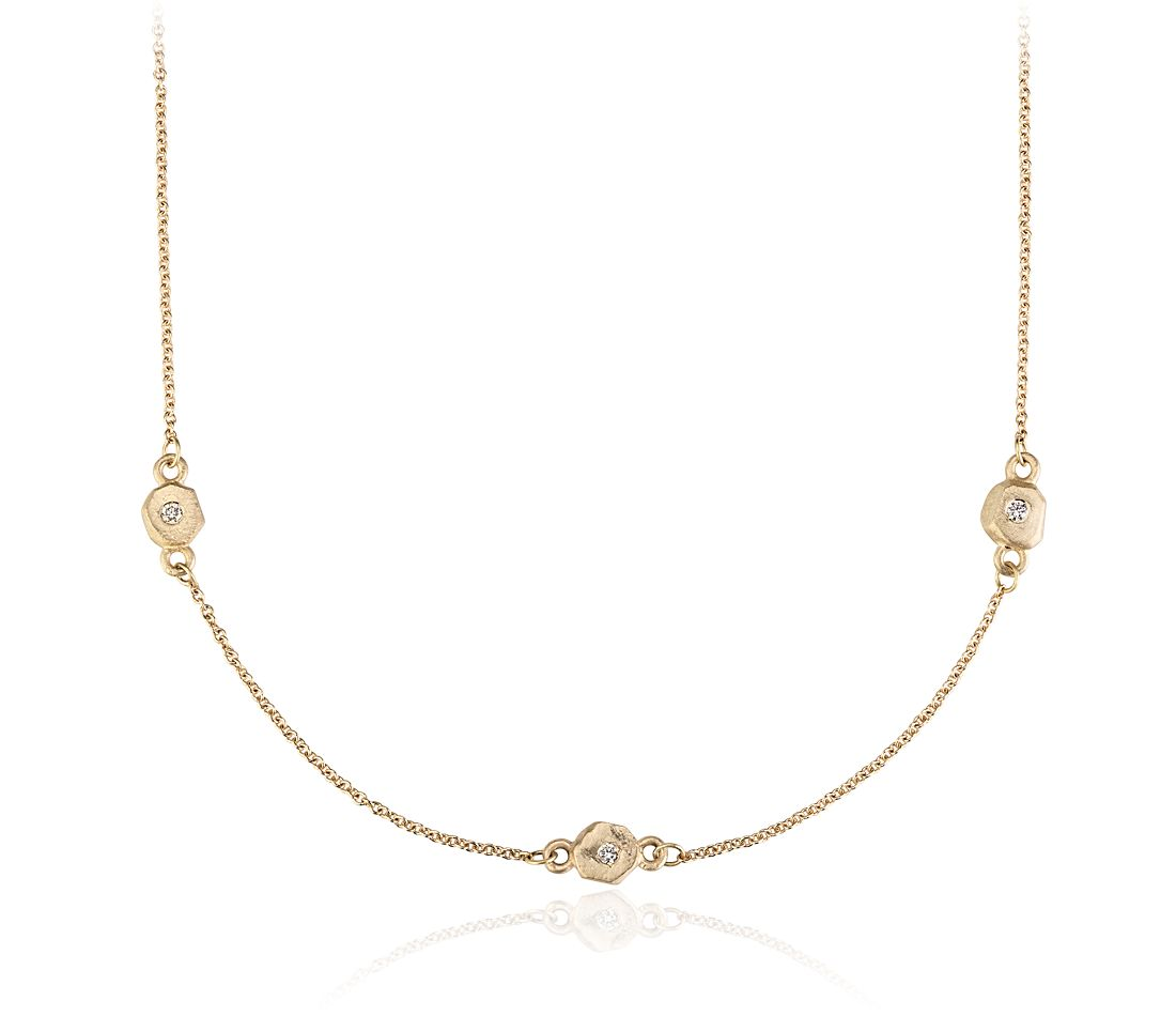 Sunlight Necklace in Satin 14k Yellow Gold