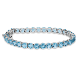Swiss Blue Topaz Bracelet in Sterling Silver (5mm)