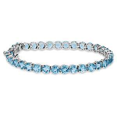 Bracelet en topazes bleues suisses en argent sterling (5mm)