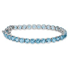 Swiss Blue Topaz Bracelet in Sterling Silver