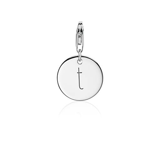 """T"" Initial Charm in Sterling Silver"