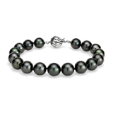 Tahitian Cultured Pearl Bracelet in 18k White Gold (9-10mm)