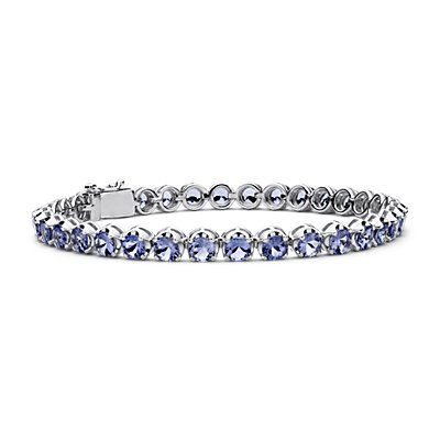 Tanzanite Bracelet in Sterling Silver (4mm)