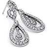 Entwined Teardrop Diamond Earrings in 14k White Gold (3/4 ct. tw.)