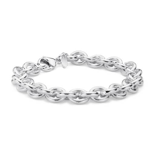Textured Cable Bracelet in Sterling Silver