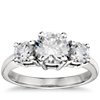 Classic Three Stone Diamond Engagement Ring in Platinum
