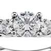Three Stone Pavé Diamond Engagement Ring in Platinum (2/3 ct. tw.)