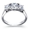 Three Stone Trellis Diamond Engagement Ring in Platinum