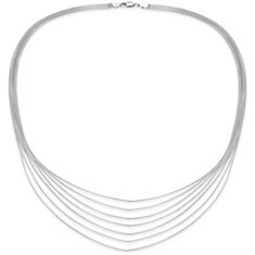 Tiers Chain Necklace in Sterling Silver