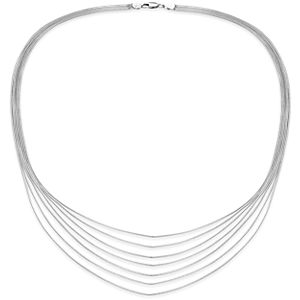 Seven Strand Necklace in Sterling Silver