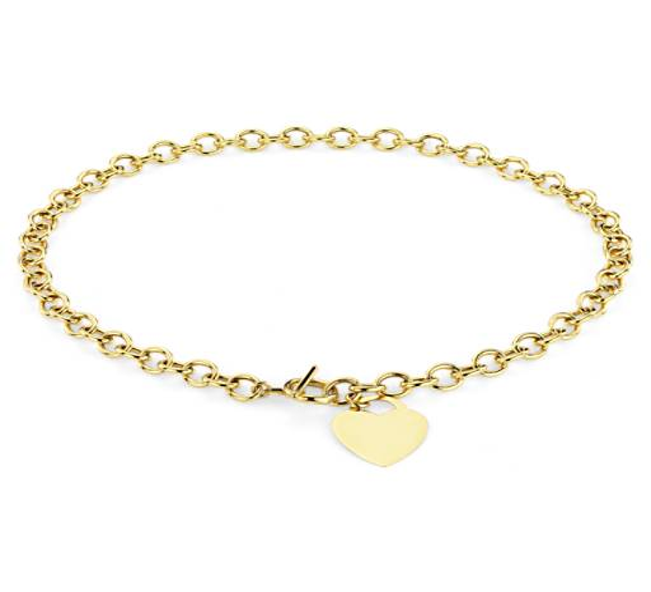 14k 黃金套索心形小牌項鏈