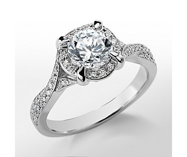 Monique Lhuillier Twist Shank Engagement Ring