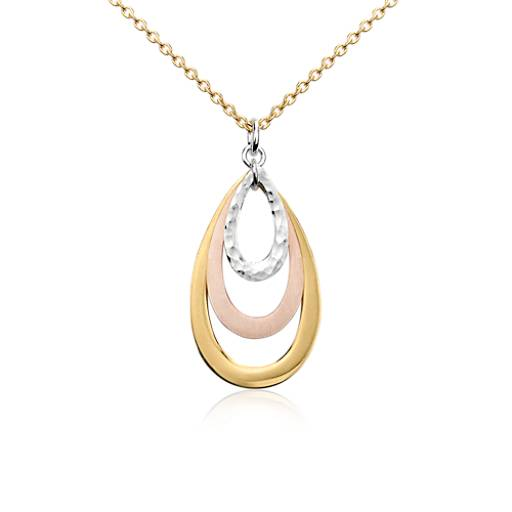Teardrop Pendant in Yellow Gold Vermeil, Rose Gold Vermeil and Sterling Silver