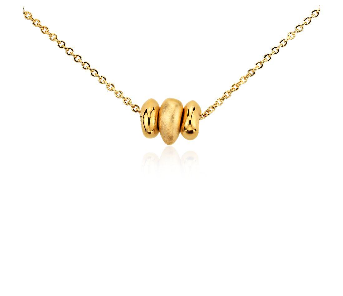 Pendentif vœu perles en vermeil or jaune 18carats