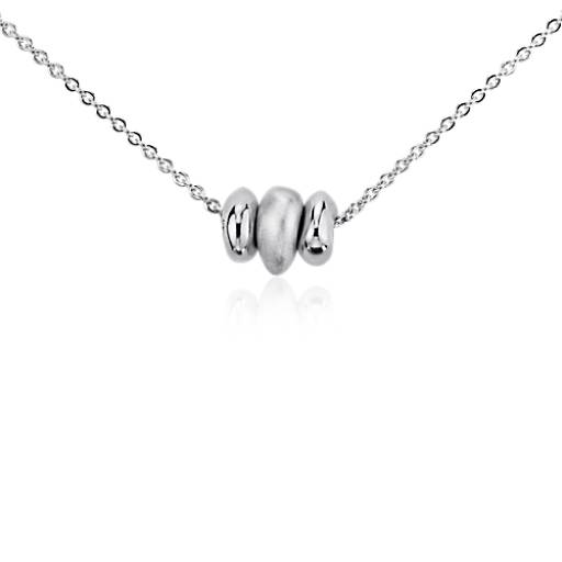 Trio Bead Wish Pendant in Sterling Silver