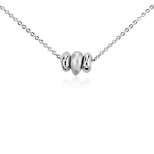 Pendentif vœu trio de perles en argent sterling