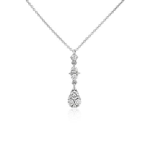 Pear Diamond Drop Pendant in 14k White Gold (1/3 ct. tw.)