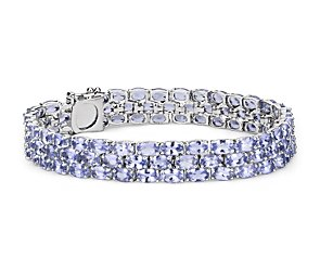Trio Oval Tanzanite Bracelet in Sterling Silver