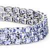 Trio Oval Tanzanite Bracelet in Sterling Silver (5x3mm)