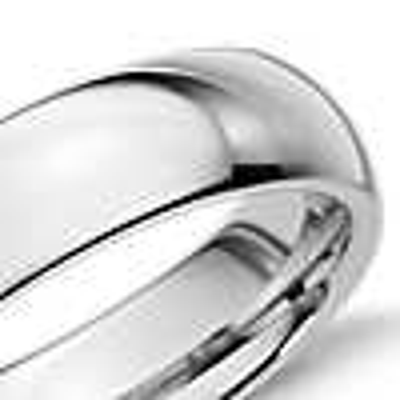 Comfort Fit Wedding Ring in White Tungsten Carbide (6mm)