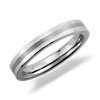 Brushed Center Flat Wedding Ring in Gray Tungsten Carbide (3mm)