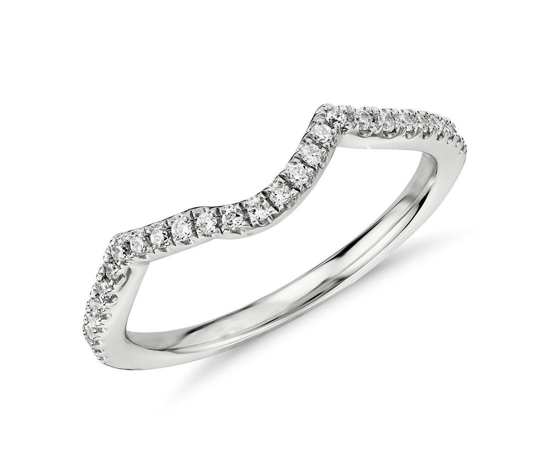 Twist Diamond Ring in 14k White Gold (1/6 ct. tw.)