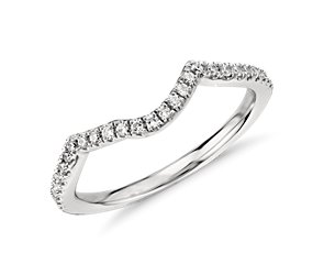 Twist Diamond Ring in Platinum (1/6 ct. tw.)